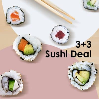 3+3 sushis set deal